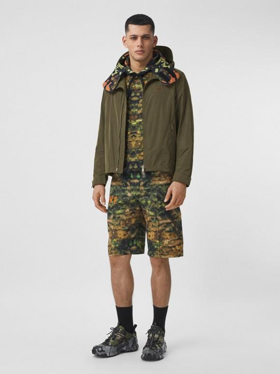 Packaway Hood Bio-based Polyester Jacket in Khaki