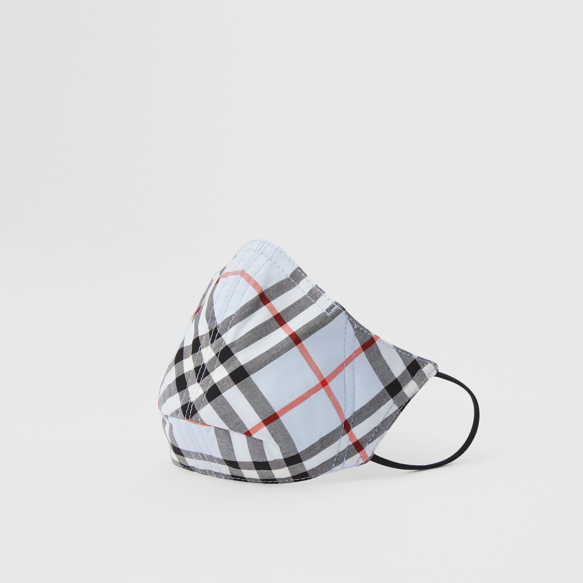 Vintage Check Cotton Face Mask in Pale Blue - Women | Burberry - gallery image 0