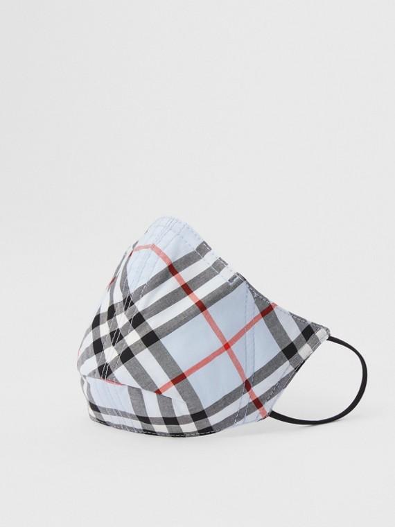 Schutzmaske aus Baumwolle im Vintage Check-Design (Vintage-beige)