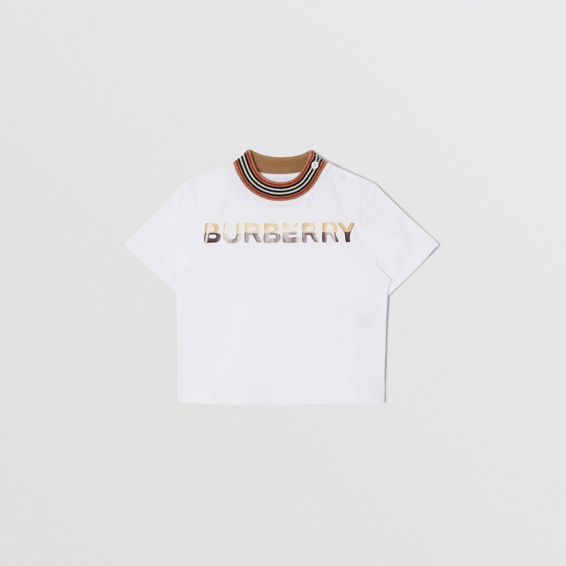 Confectionery Logo Print Cotton T-shirt in White - Children | Burberry - gallery image 0