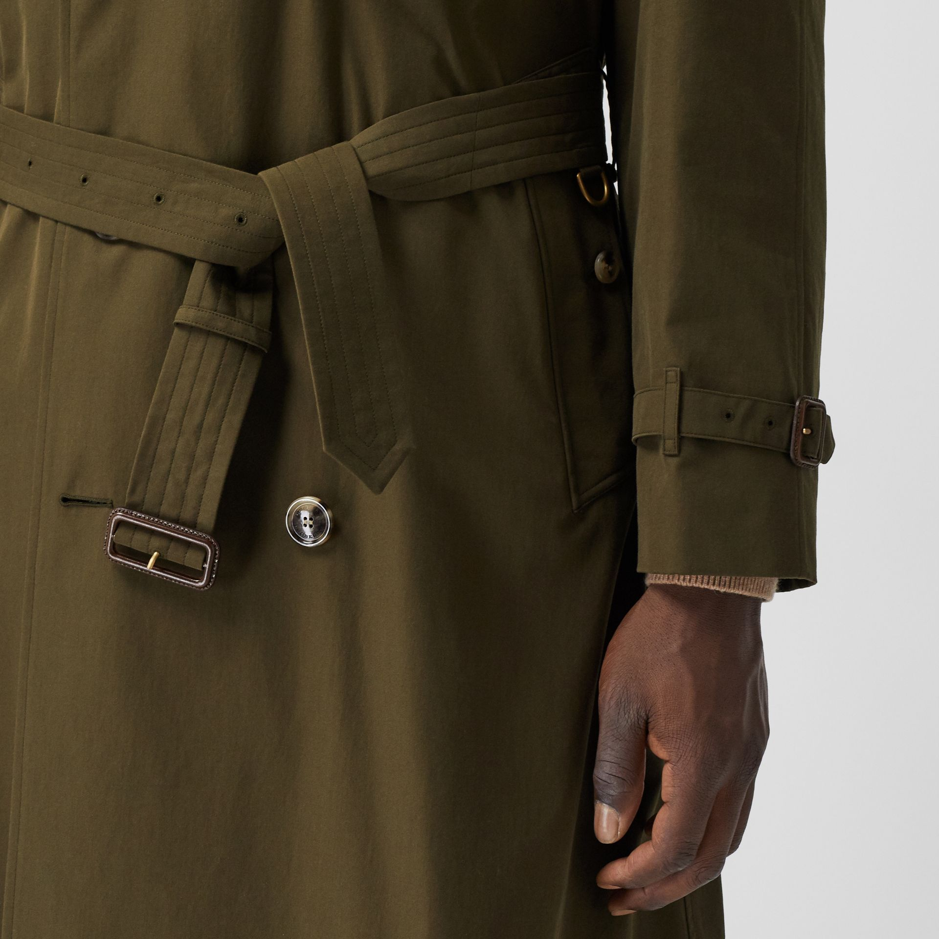 The Westminster Heritage Trench Coat in Dark Military Khaki - Men | Burberry Hong Kong S.A.R. - gallery image 4