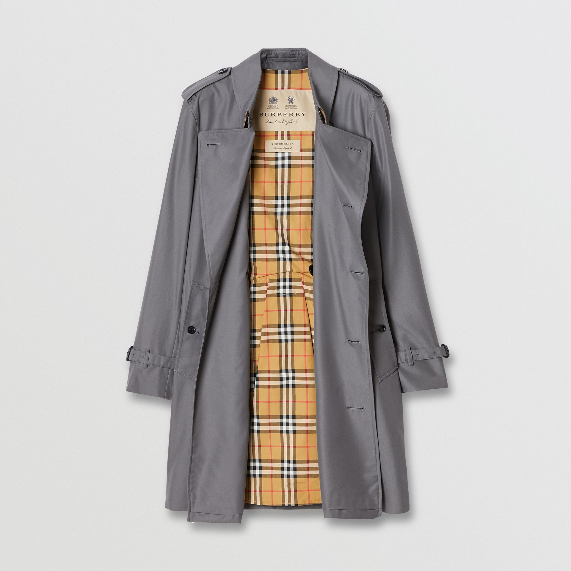 The Mid-length Chelsea Heritage Trench Coat in Grey - Men | Burberry Canada - gallery image 7