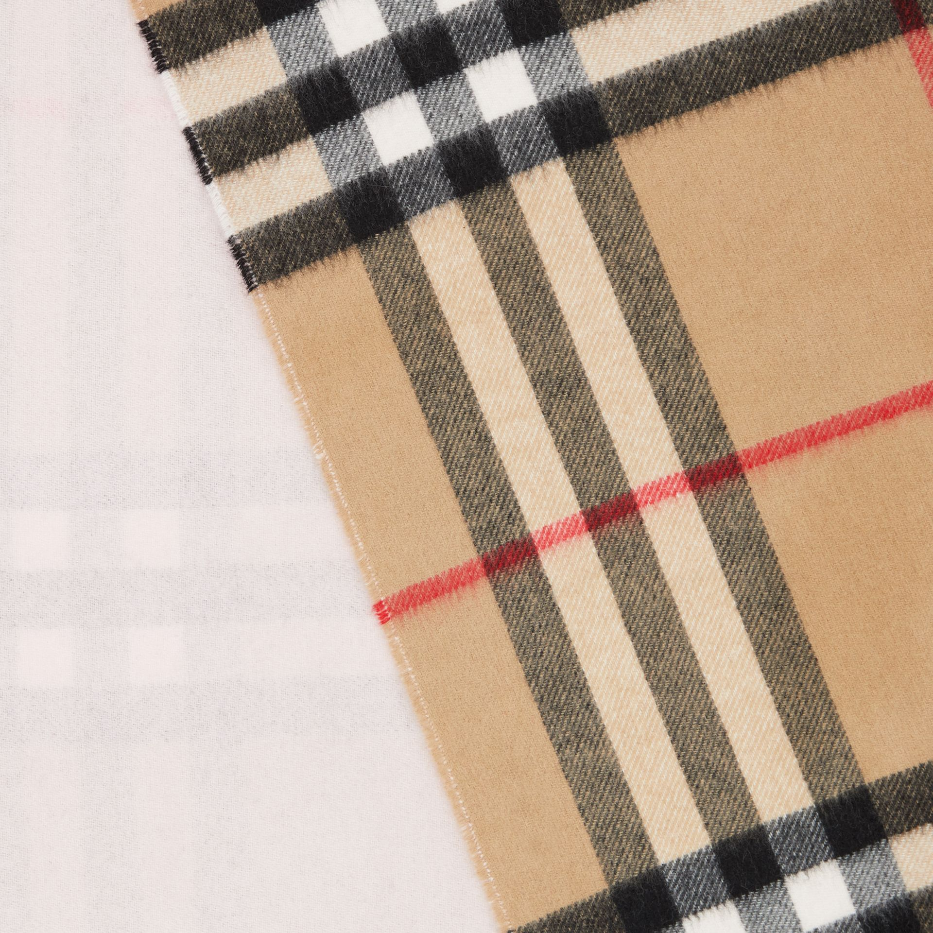 Reversible Check Cashmere Scarf in Frosted Pink | Burberry Canada - gallery image 1