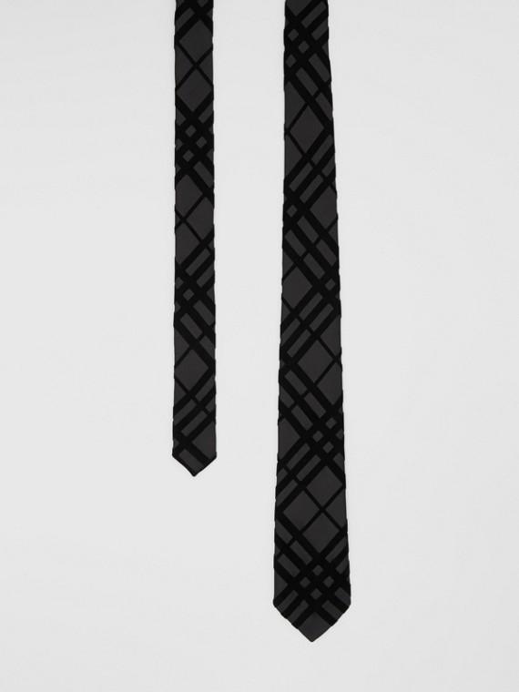 Classic Cut Check Flock Silk Tie