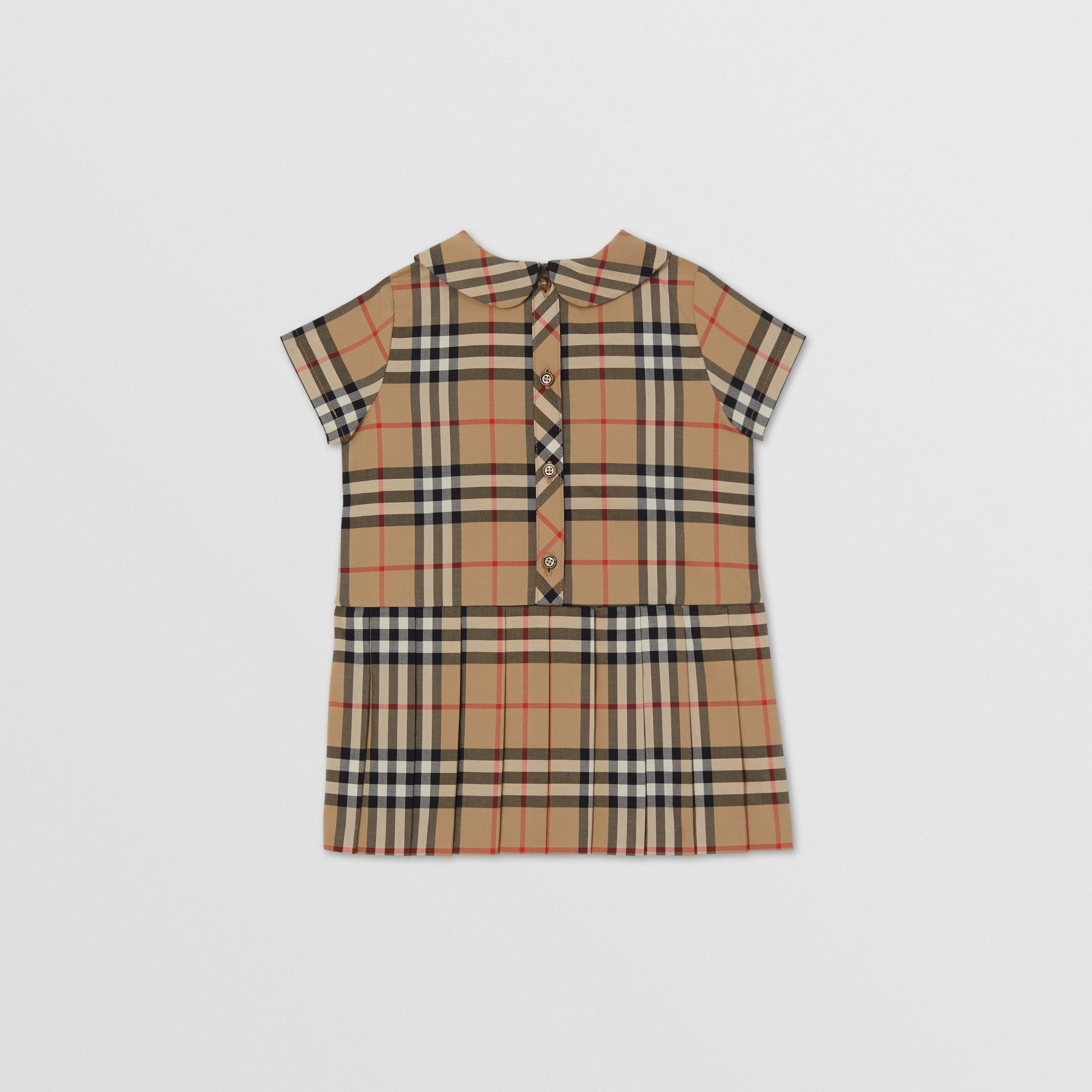 Peter Pan Collar Vintage Check Cotton Dress - Children | Burberry United Kingdom - gallery image 2