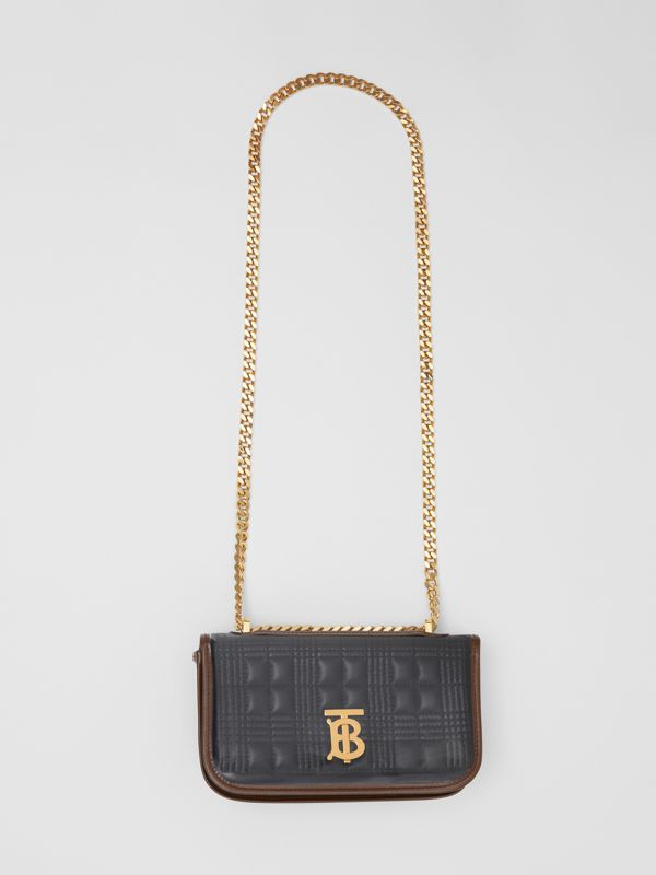 Mini Quilted Lambskin Lola Bag with Transparent Cover - Women | Burberry - cell image 3