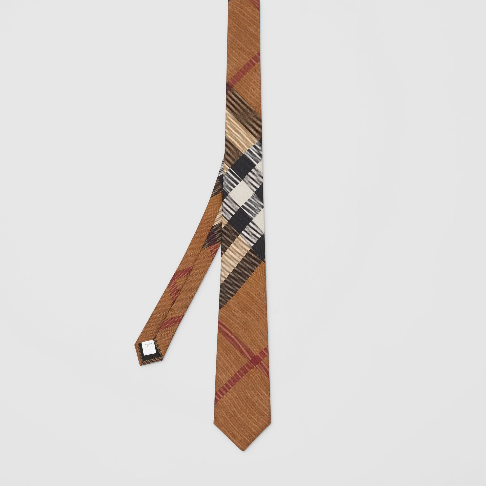 Classic Cut Check Silk Jacquard Tie in Birch Brown - Men | Burberry Canada - gallery image 4