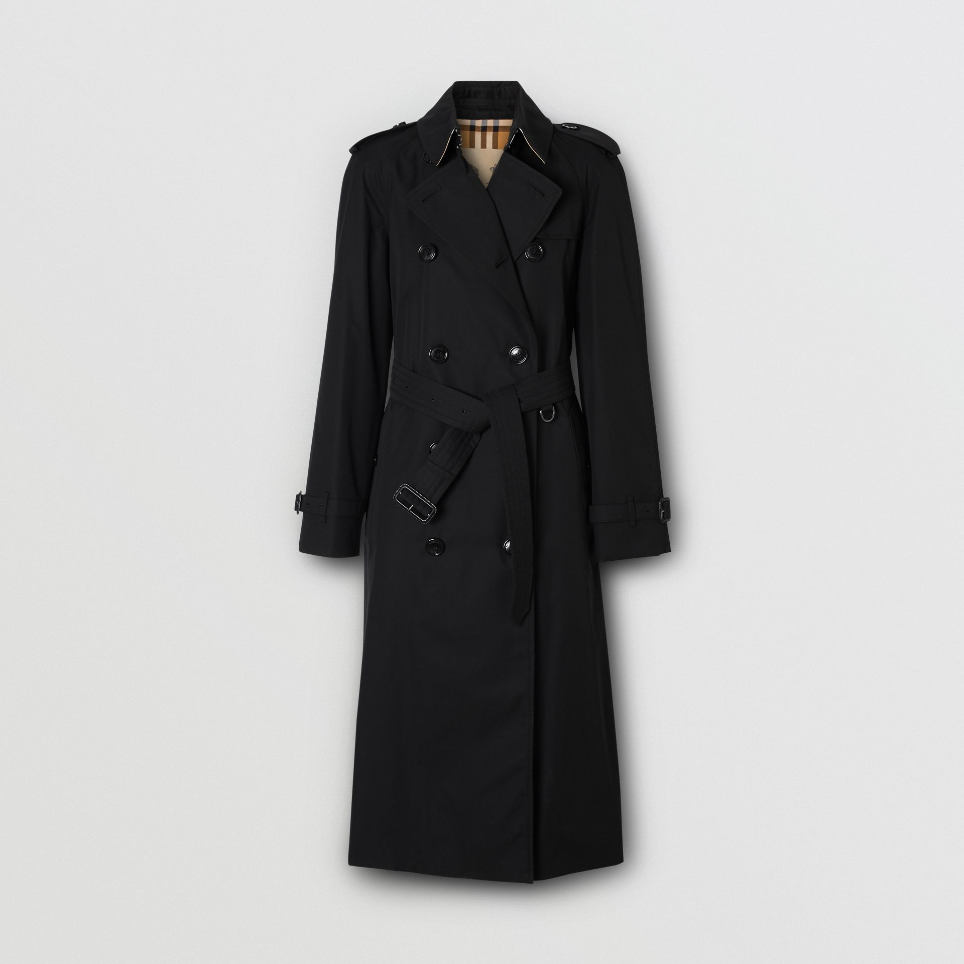 The Long Waterloo Heritage Trench Coat in Black - Women | Burberry - gallery image 3