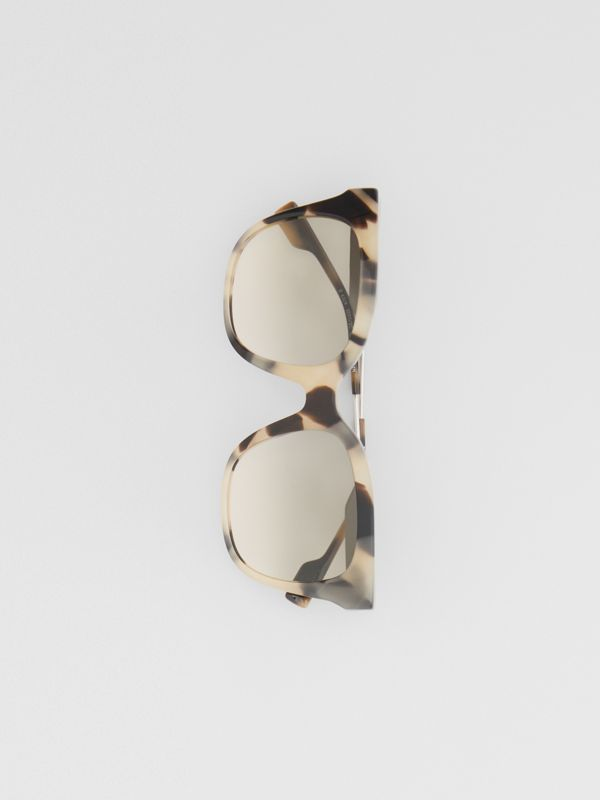 Butterfly Frame Sunglasses in Honey Tortoiseshell - Women | Burberry Canada - cell image 3