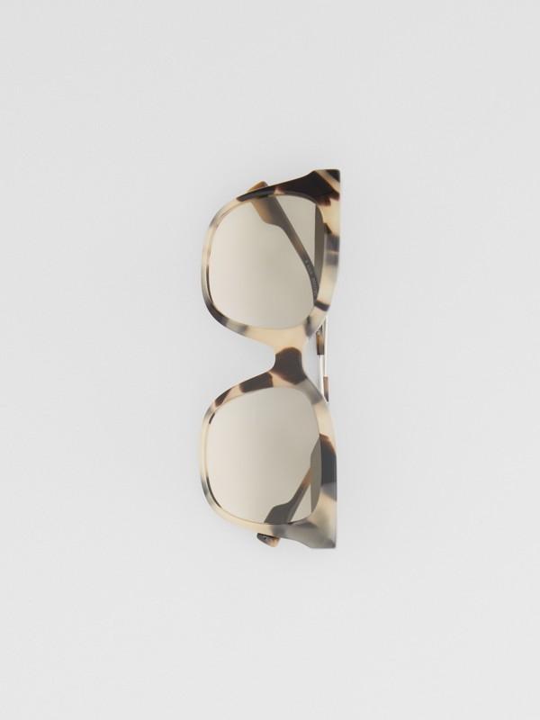 Butterfly Frame Sunglasses in Honey Tortoiseshell - Women | Burberry - cell image 3