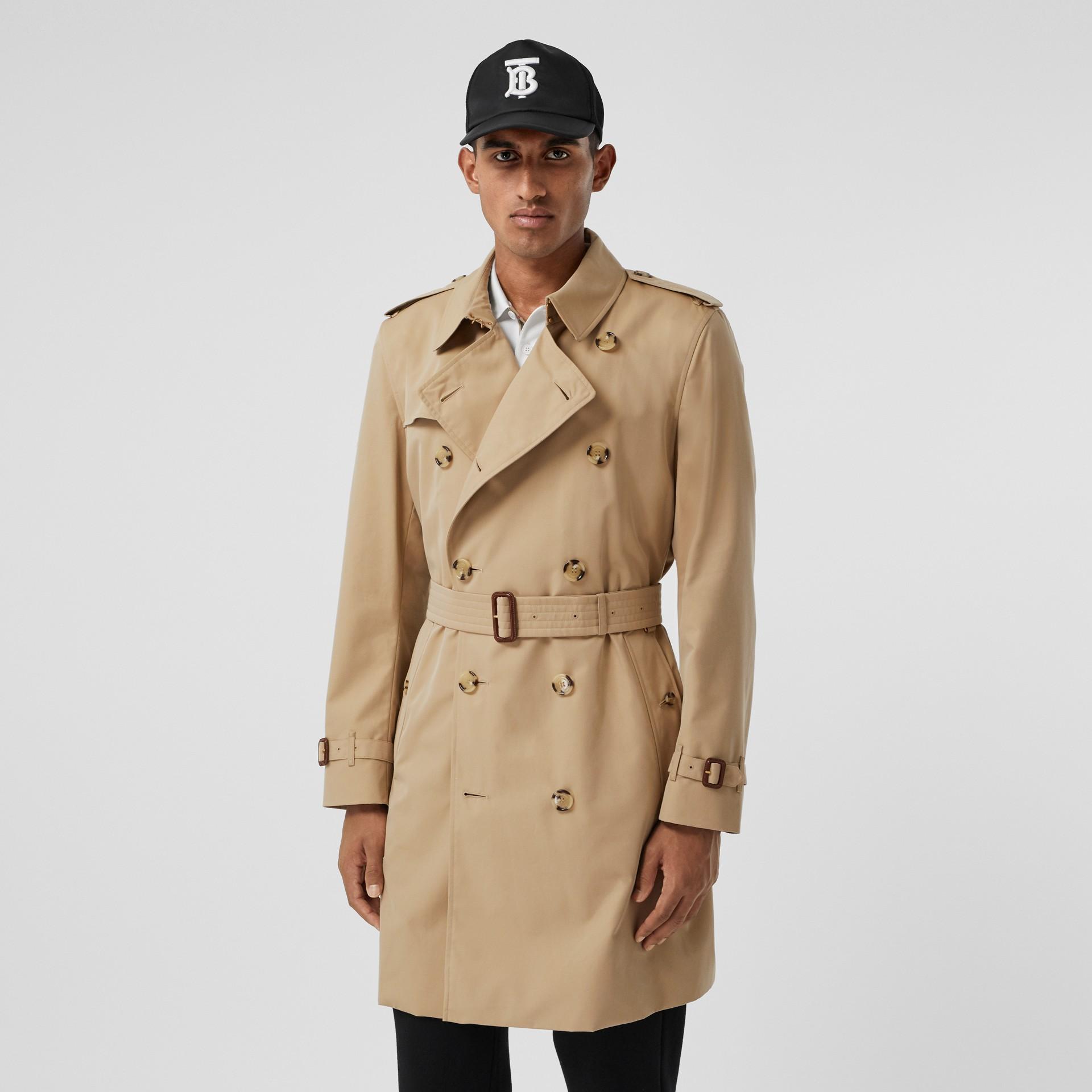 The Mid-length Kensington Heritage Trench Coat in Honey - Men   Burberry - gallery image 7