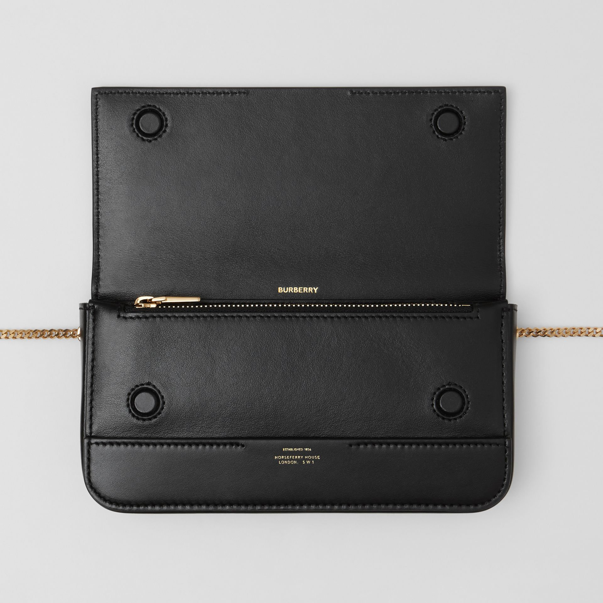 Leather Wallet with Detachable Chain Strap   Burberry United Kingdom - gallery image 5