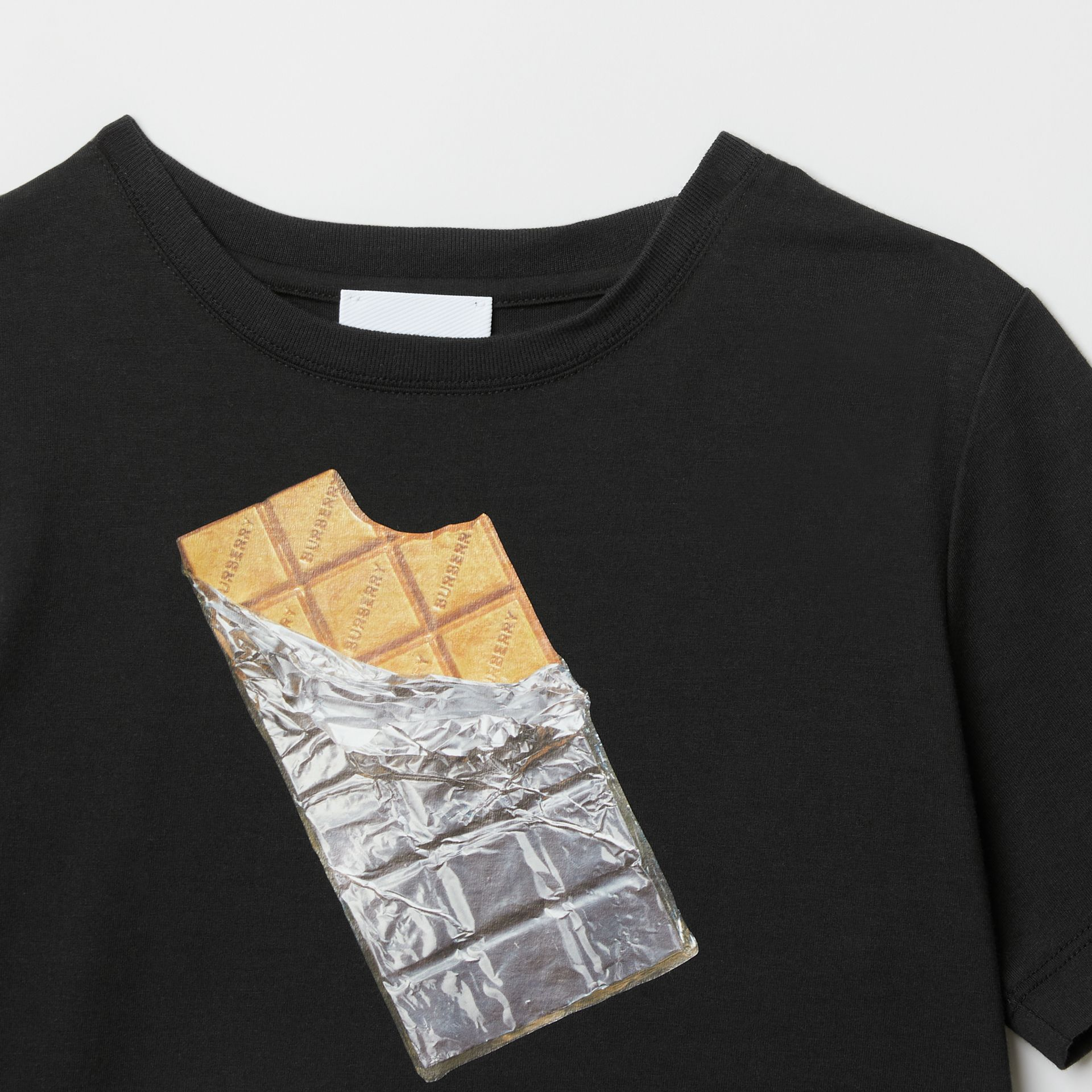 Confectionery Print Cotton T-shirt in Black | Burberry - gallery image 4