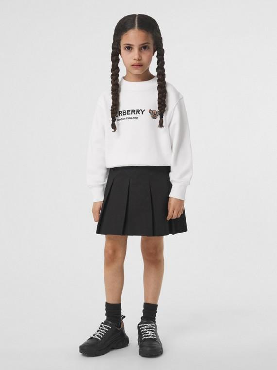 Baumwollsweatshirt mit Thomas Teddybär-Motiv (Weiß)