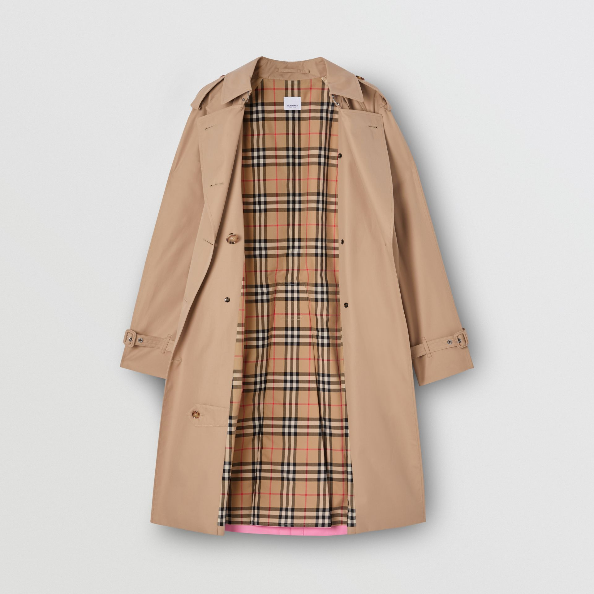 Contrast Cape Detail Cotton Twill Trench Coat in Soft Fawn - Women | Burberry - gallery image 4