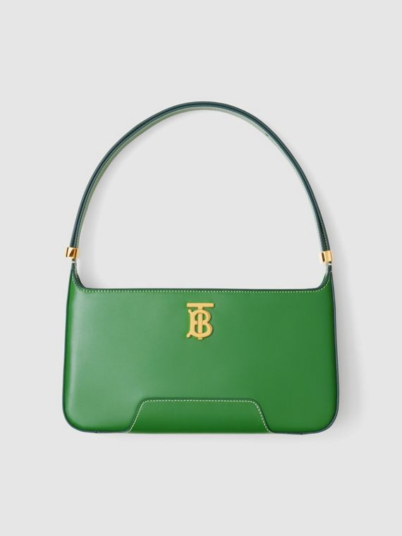 Leather TB Shoulder Bag – Online Exclusive in Ivy Green