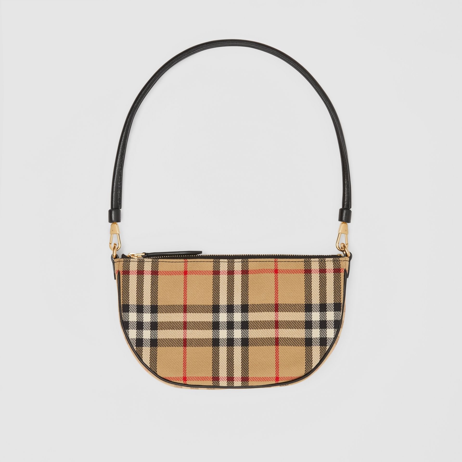 Vintage Check Cotton Olympia Pouch in Archive Beige - Women | Burberry United Kingdom - gallery image 0