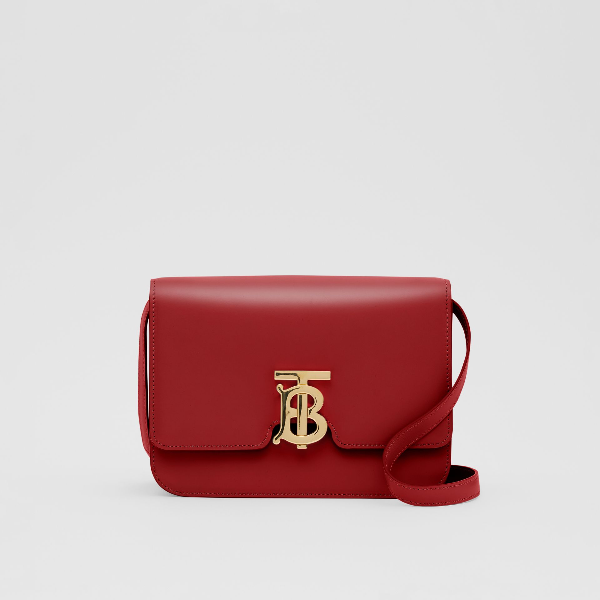 Small Leather TB Bag in Dark Carmine - Women | Burberry - gallery image 0