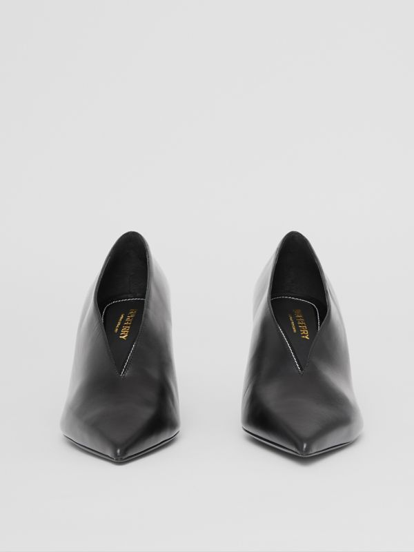 Leather Point-toe Pumps in Black - Women | Burberry - cell image 3