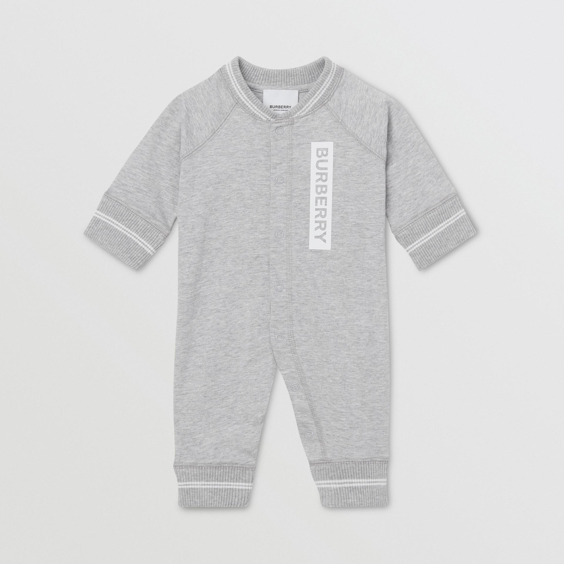 Logo and Deer Motif Cotton Jumpsuit - Children | Burberry United Kingdom - gallery image 0