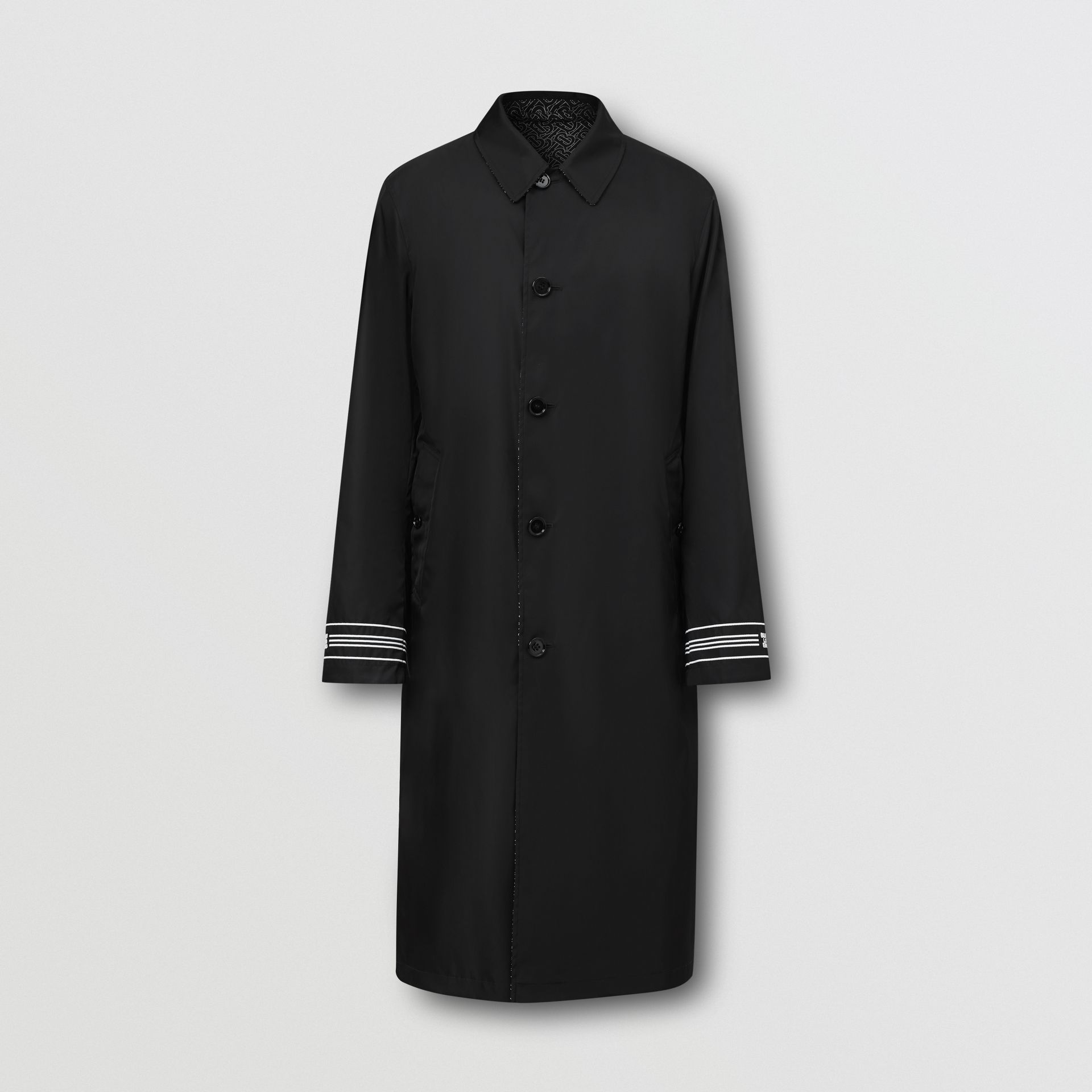 Reversible Logo Embroidered ECONYL® Car Coat - Men | Burberry - gallery image 3