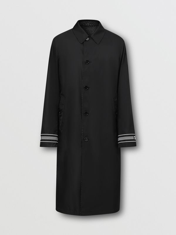 Reversible Logo Embroidered ECONYL® Car Coat - Men | Burberry - cell image 3