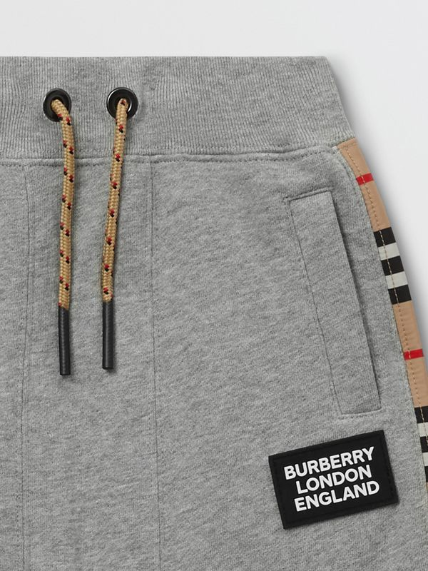 Icon Stripe Panel Cotton Trackpants - Children | Burberry United Kingdom - cell image 3