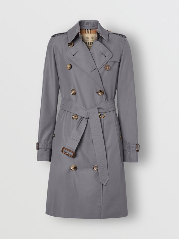 The Mid-length Kensington Heritage Trench Coat in Grey - Women | Burberry - cell image 2