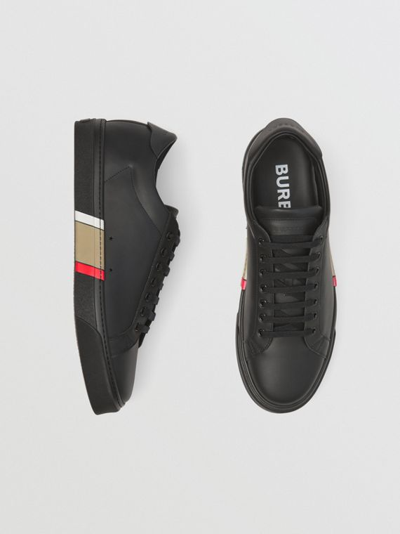 Ledersneaker mit Bio-Sohle (Schwarz)