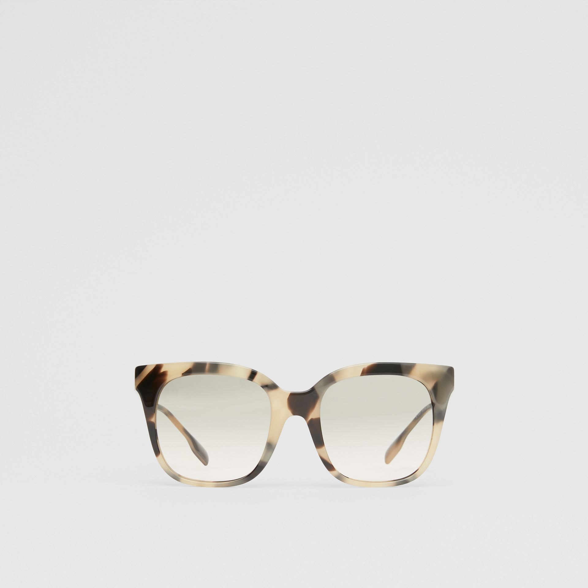 Óculos de sol com armação borboleta (Casco  Tartaruga Mel) - Mulheres | Burberry - galeria de imagens 0