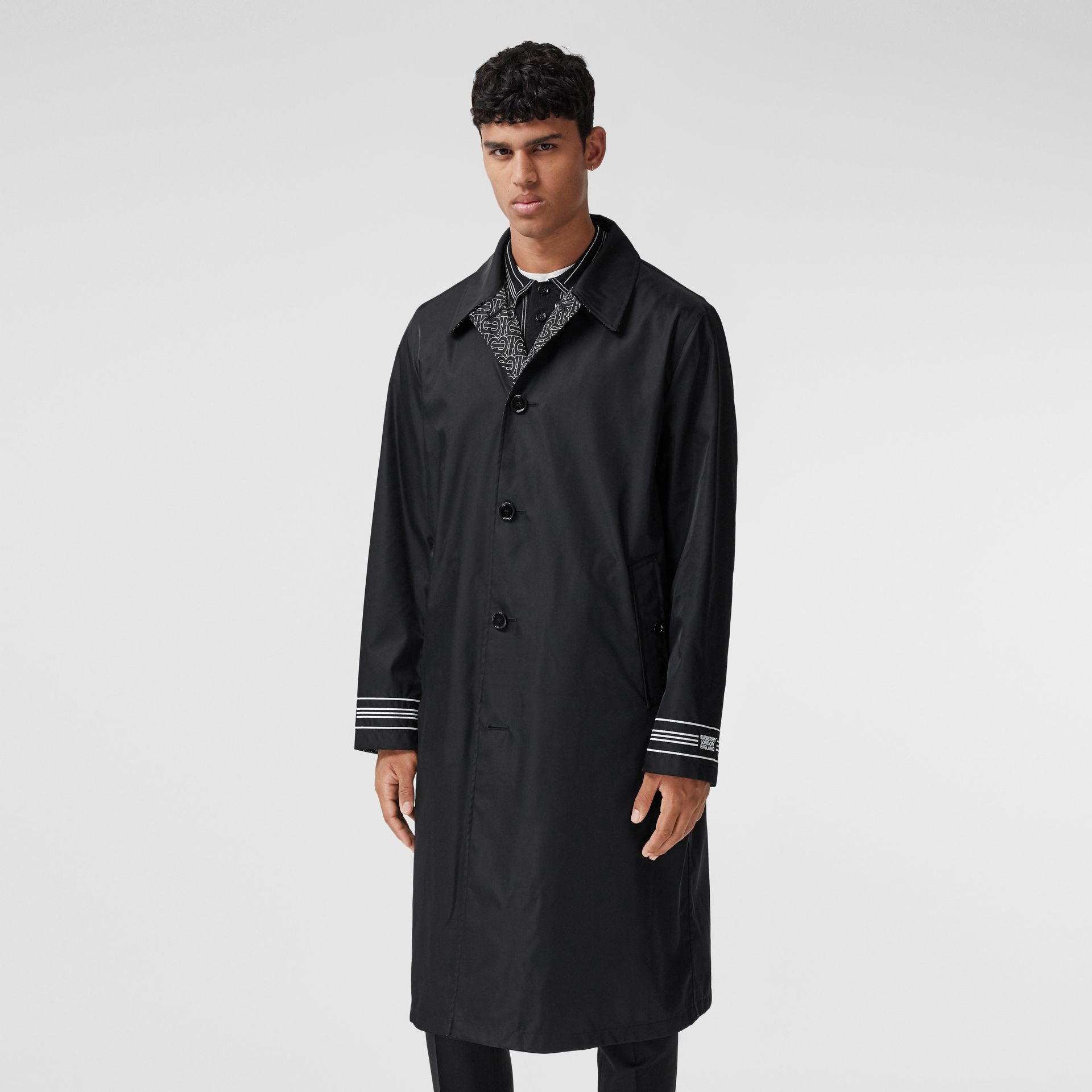 Reversible Logo Embroidered ECONYL® Car Coat - Men | Burberry - gallery image 7