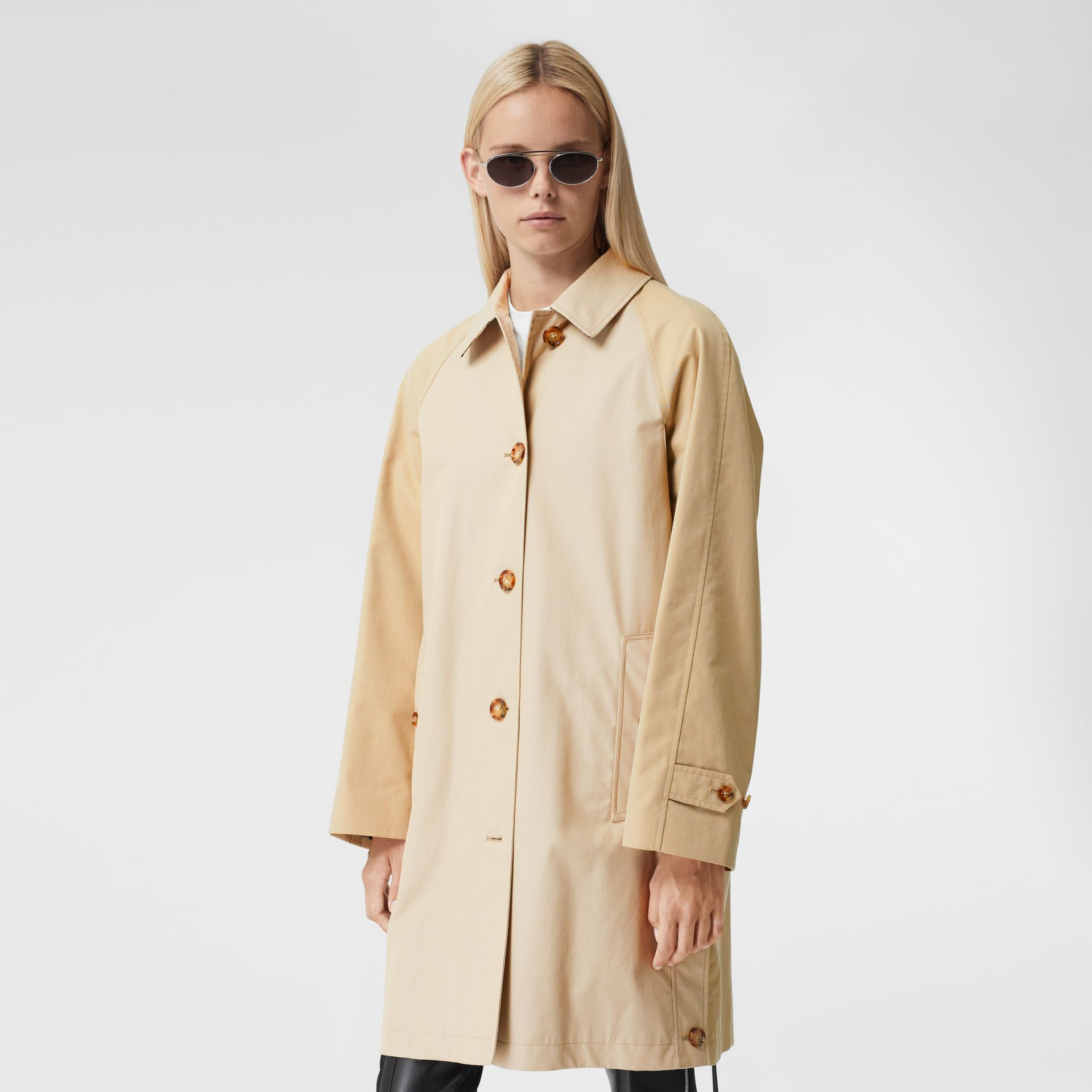 Two-tone Reconstructed Car Coat - Women | Burberry - gallery image 7