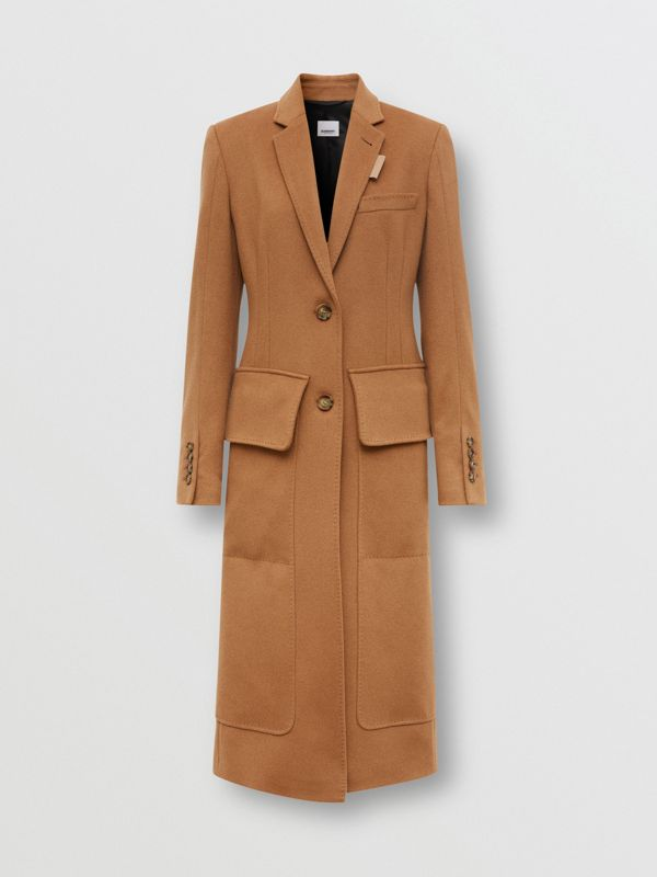Cashmere Tailored Coat in Bronze - Women | Burberry - cell image 3