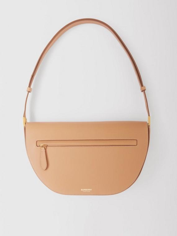 Medium Leather Olympia Bag in Warm Sand