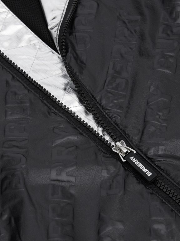 Logo Print Lightweight Hooded Jacket in Black | Burberry Hong Kong S.A.R - cell image 1