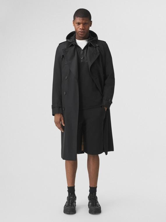 Trench coat Heritage Kensington largo (Negro)