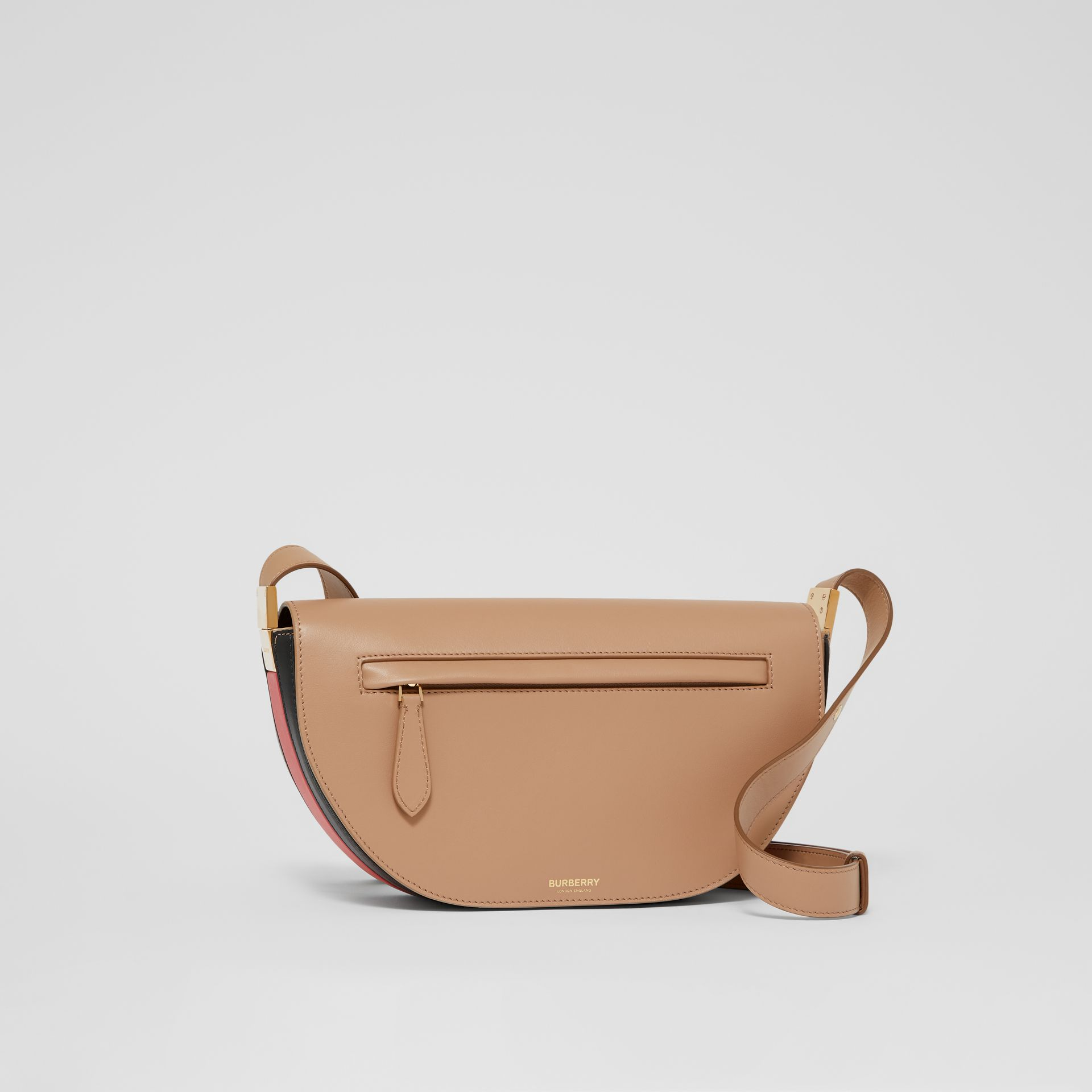 Small Leather Olympia Bag in Camel - Women | Burberry - gallery image 6