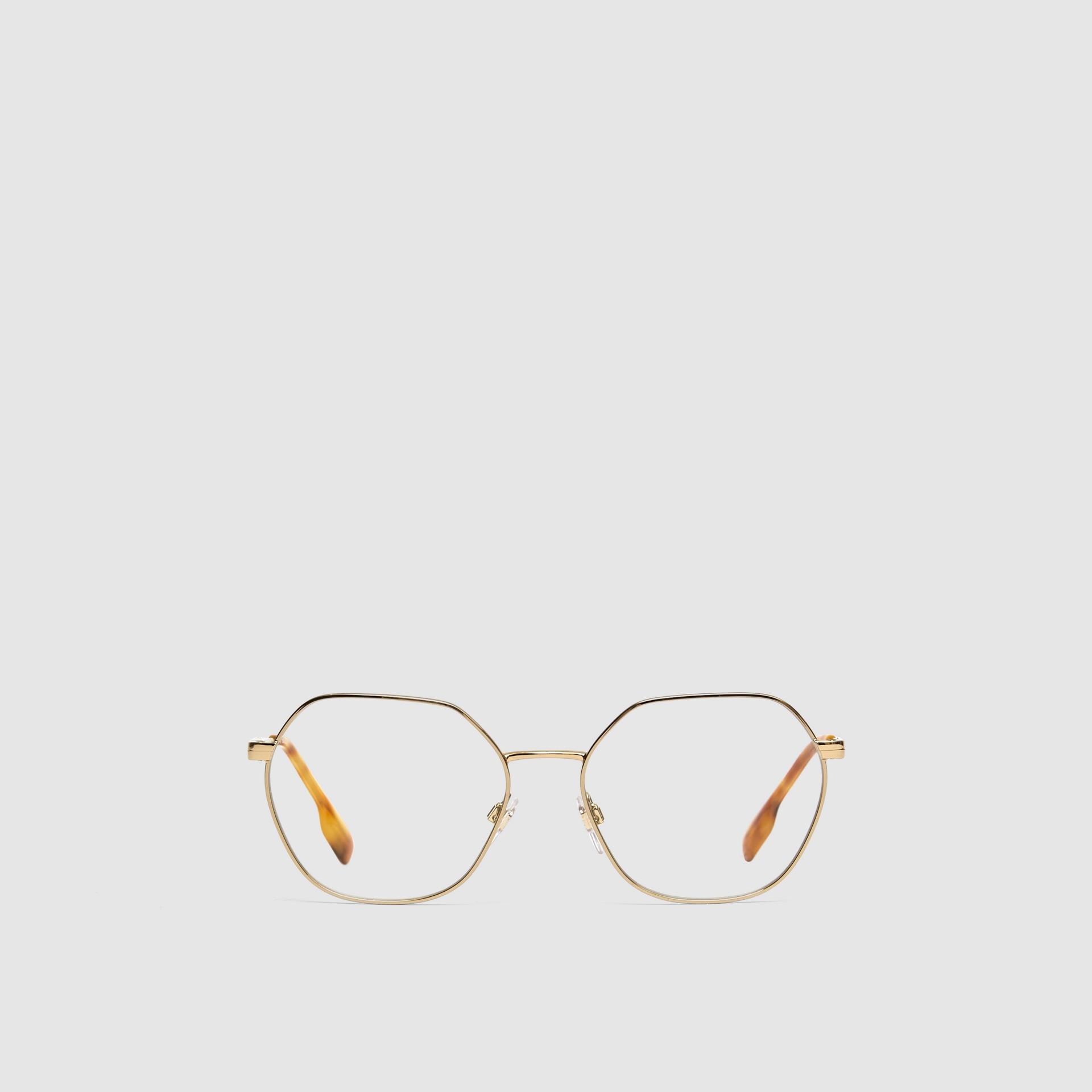 Geometric Optical Frames in Tortoiseshell - Women | Burberry - gallery image 0