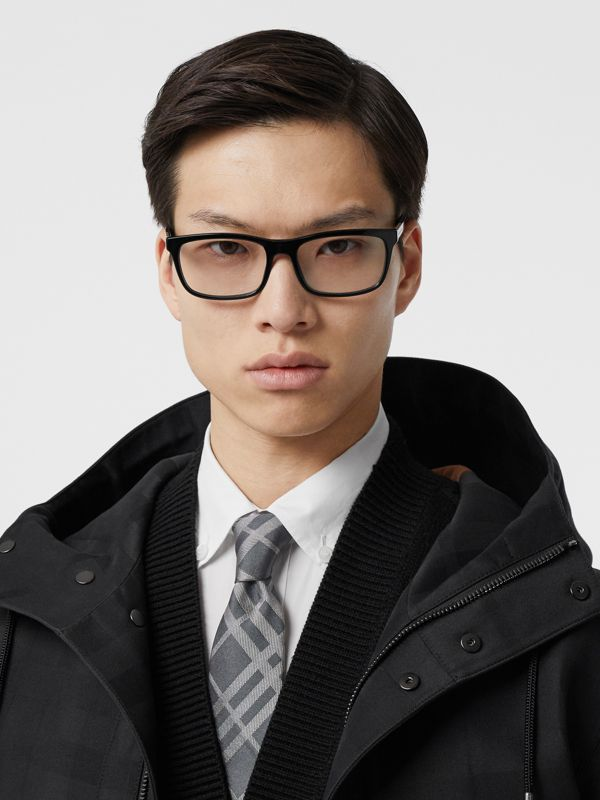 Classic Cut Check Silk Jacquard Tie in Mid Grey - Men | Burberry - cell image 2