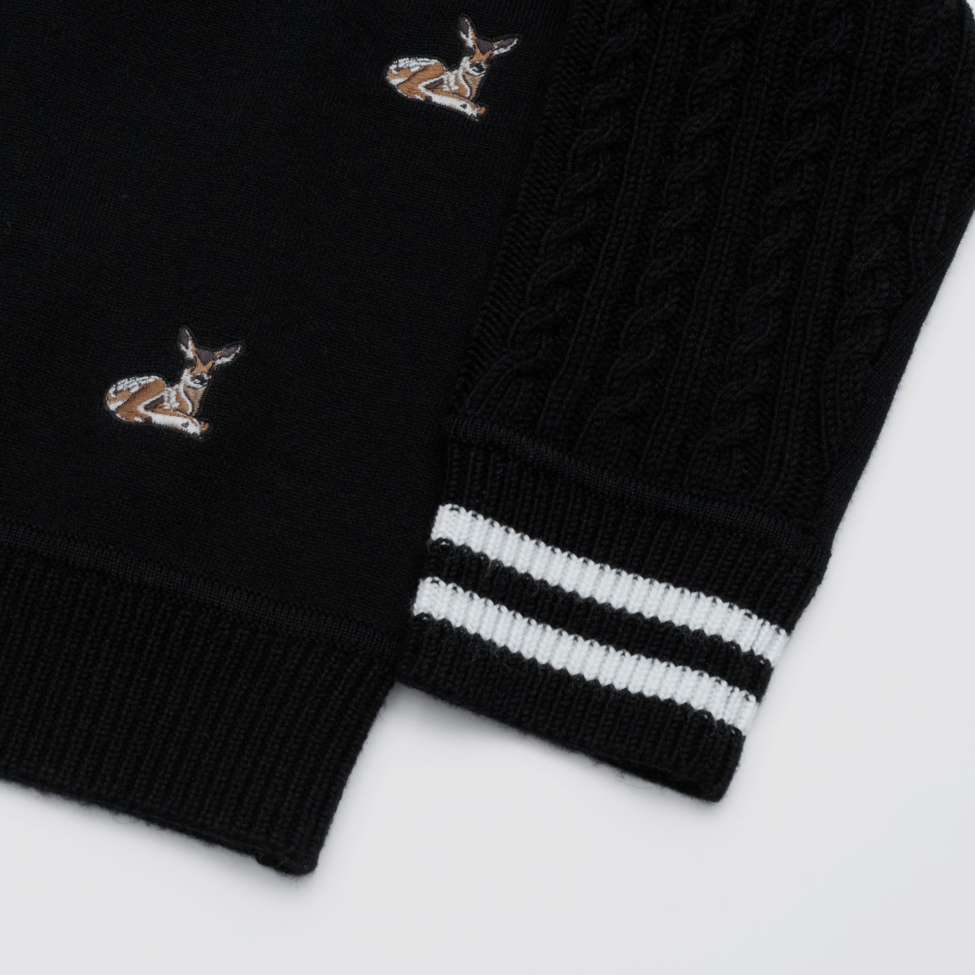 Deer Motif Wool Blend Cardigan | Burberry United Kingdom - gallery image 1