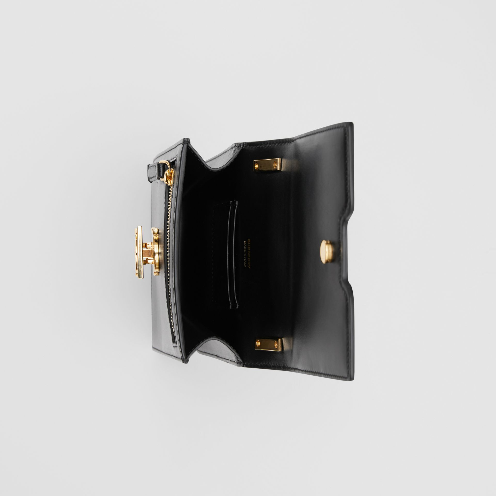 Leather Robin Bag in Black - Women | Burberry United Kingdom - gallery image 5