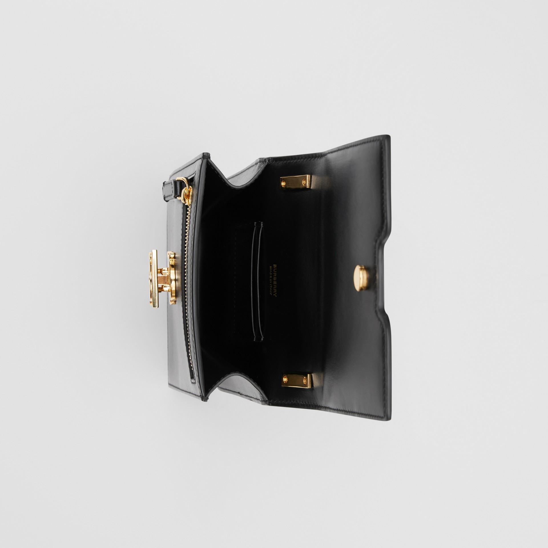 Leather Robin Bag in Black - Women | Burberry Australia - gallery image 5