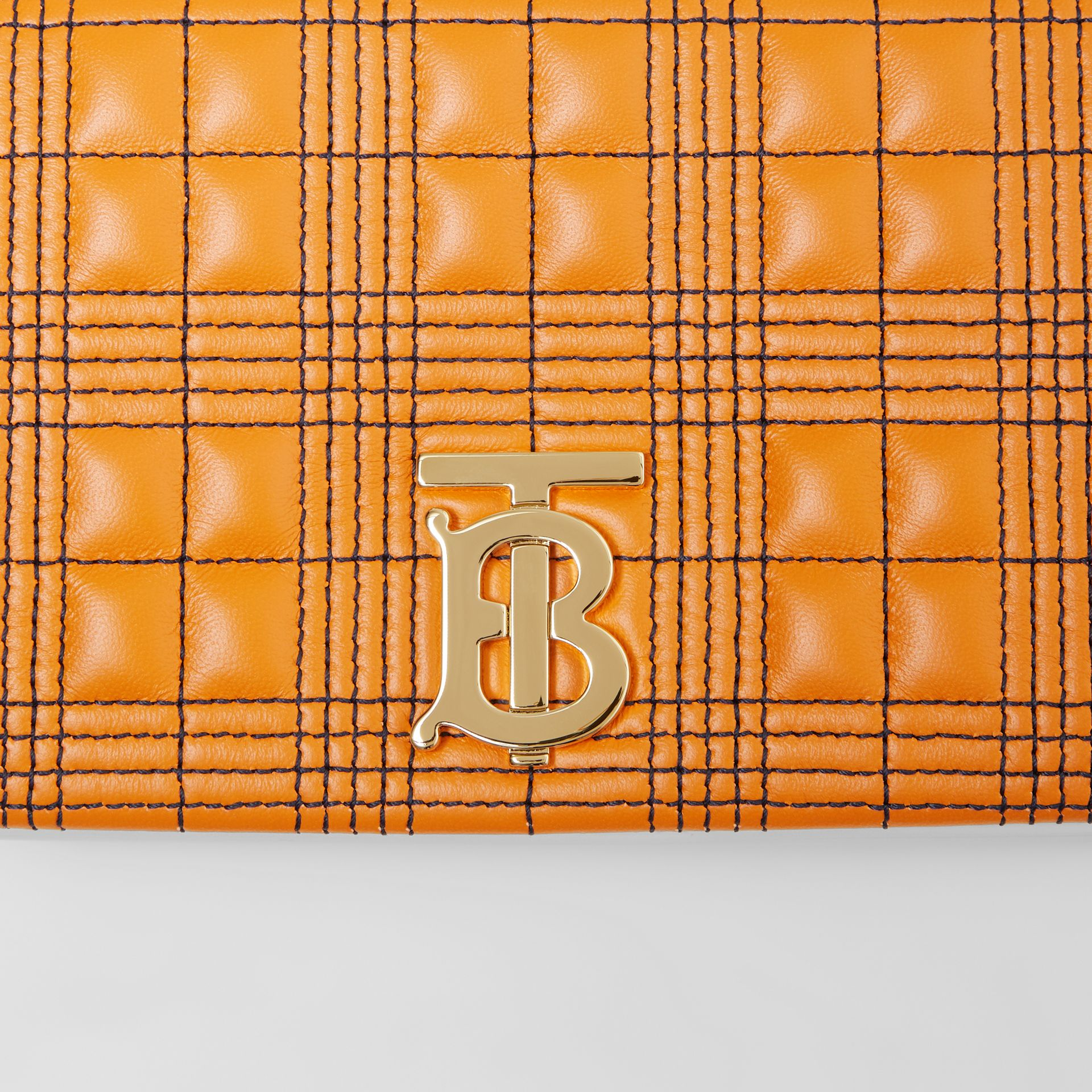 Small Quilted Tri-tone Lambskin Lola Bag in Orange/white - Women | Burberry - gallery image 1