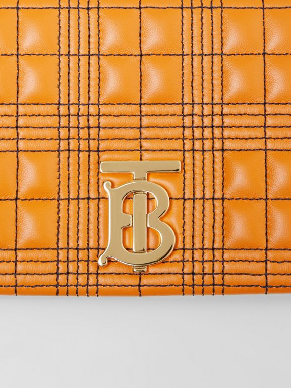 Small Quilted Tri-tone Lambskin Lola Bag in Orange/white - Women | Burberry - cell image 1