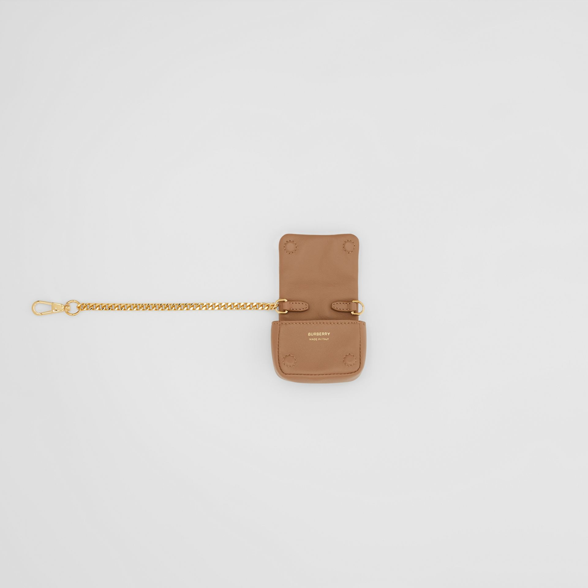 Quilted Lambskin AirPods Pro Case in Camel - Women | Burberry - gallery image 3