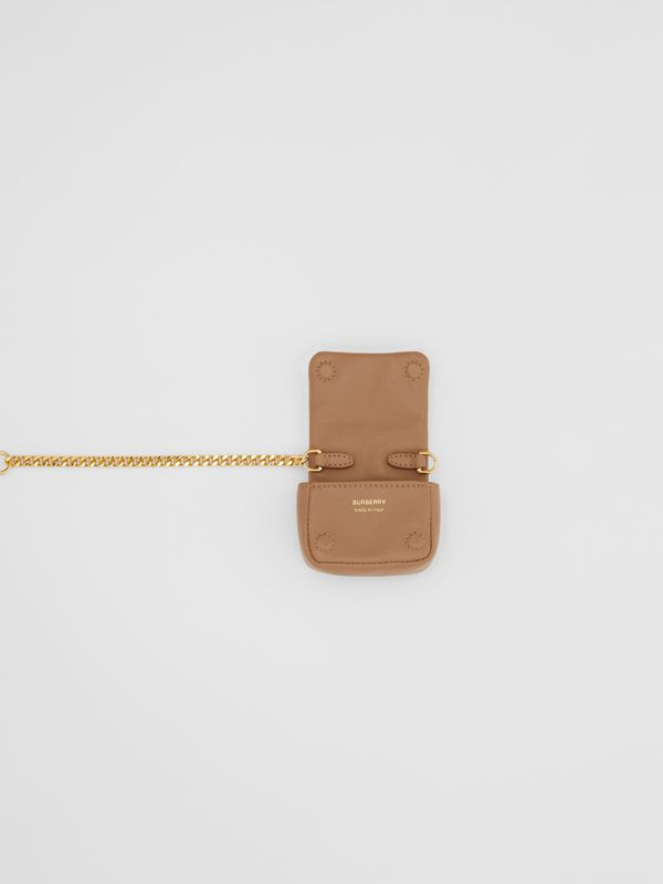 Quilted Lambskin AirPods Pro Case in Camel - Women | Burberry - cell image 3
