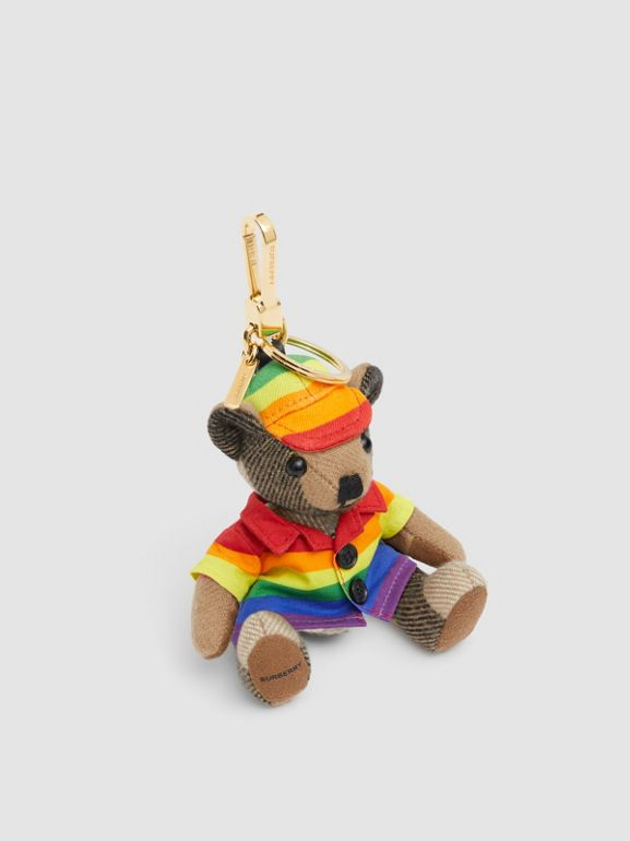 Thomas Bear Charm in Rainbow Coat and Hat in Archive Beige/multicolour   Burberry United Kingdom - cell image 1