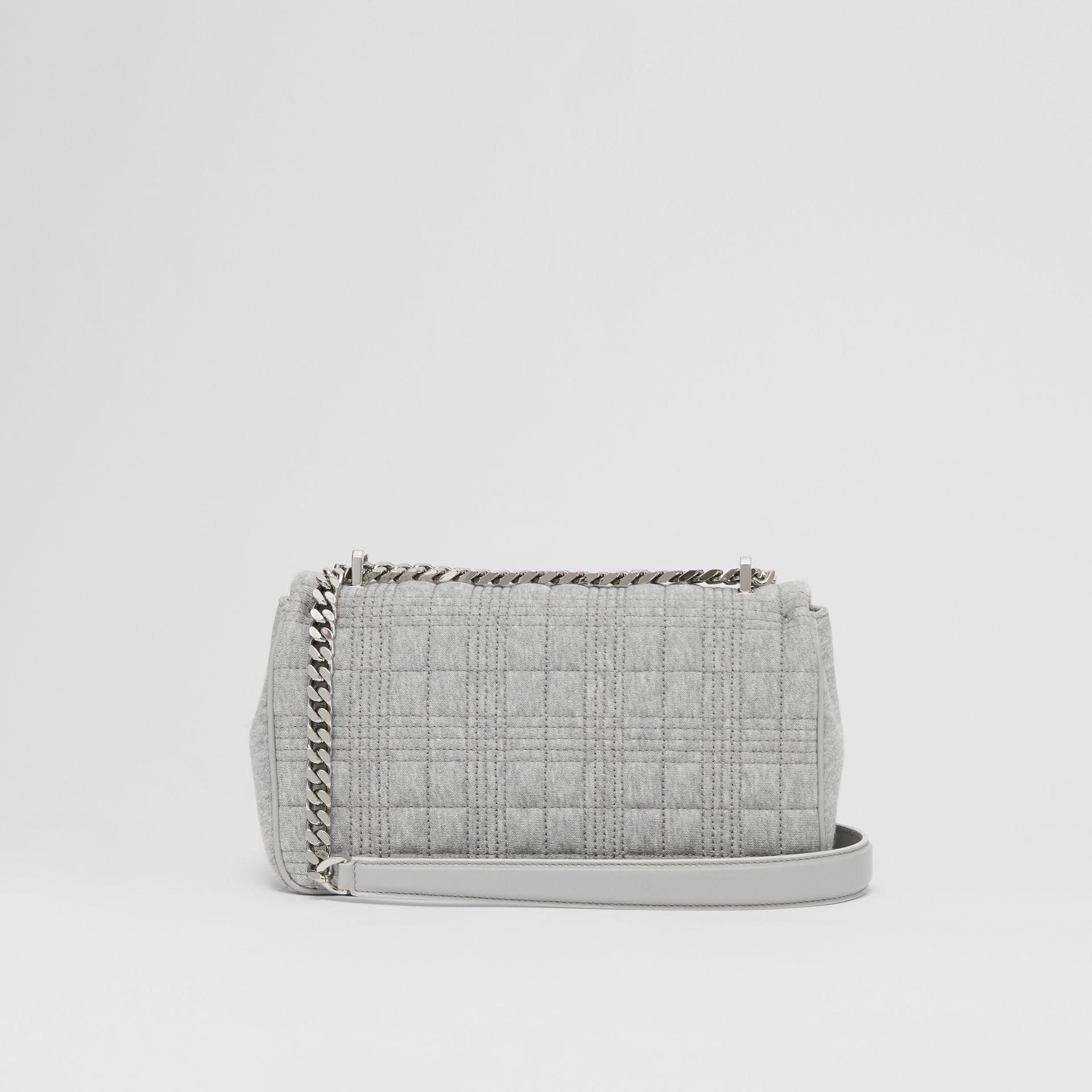 Small Quilted Jersey Lola Bag in Grey Taupe Melange | Burberry United Kingdom - gallery image 5