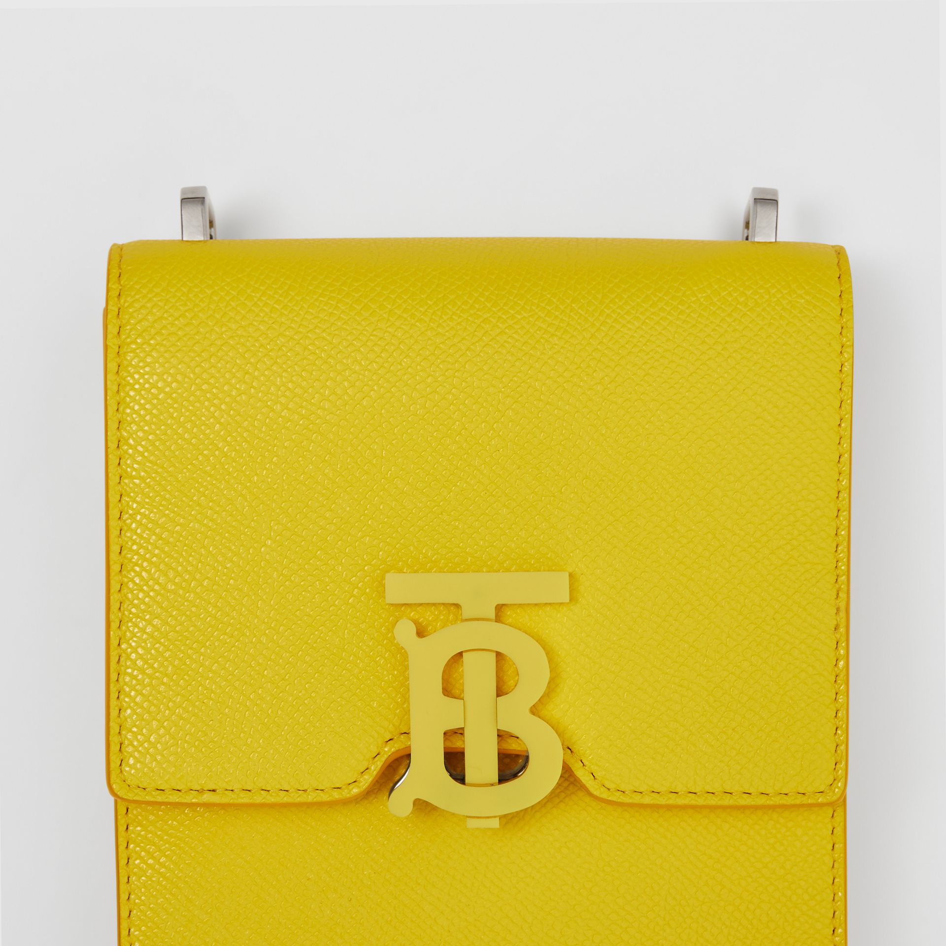Grainy Leather Robin Bag in Marigold Yellow | Burberry - gallery image 1