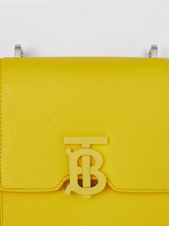 Grainy Leather Robin Bag in Marigold Yellow | Burberry - cell image 1